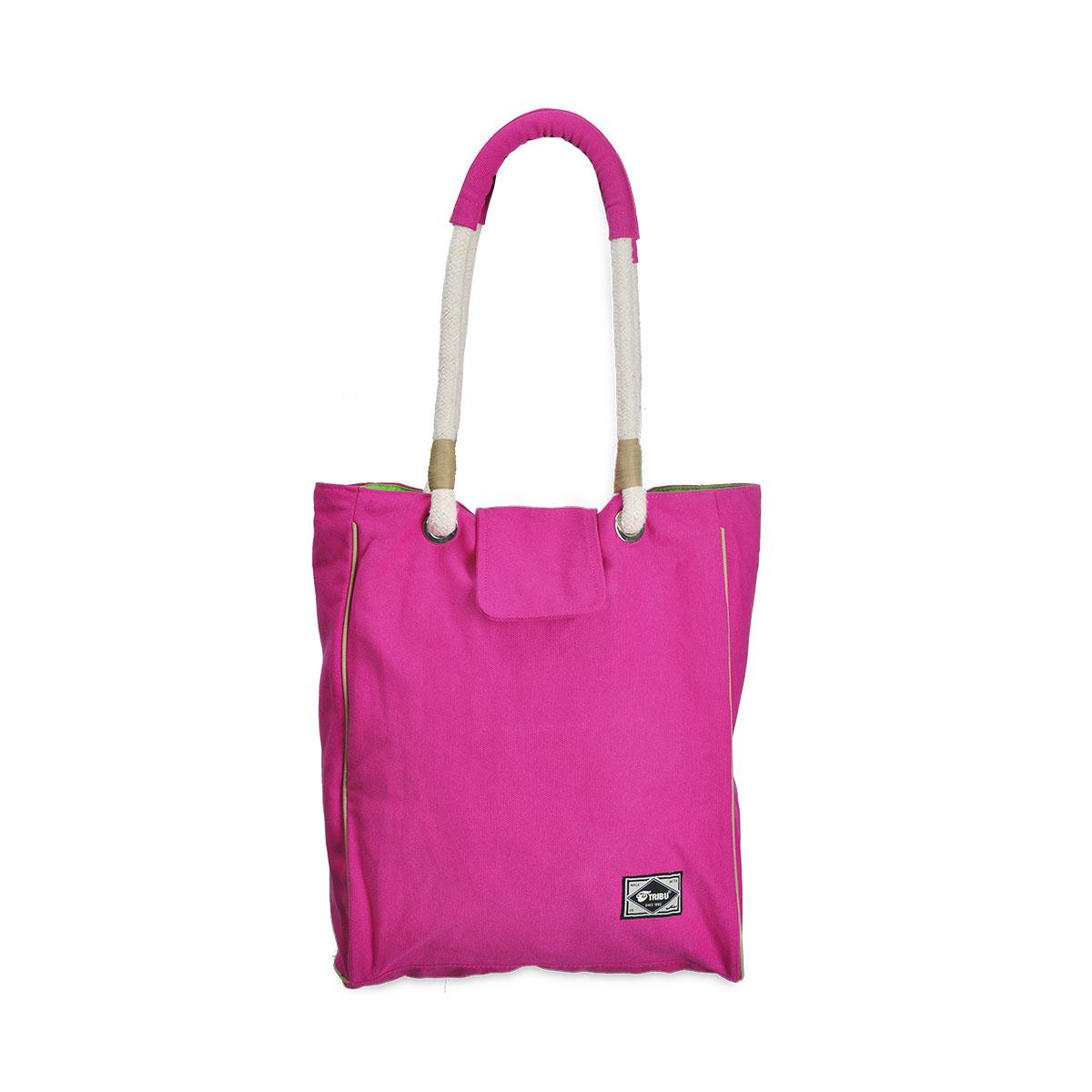 Tribu Ladies Canvas Tote Bag (Pink) – TribuNation 222f73837f798